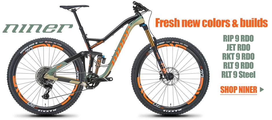 Check out the all new 2018 line-up from Niner Bikes - Save more with BikeBling Rewards!